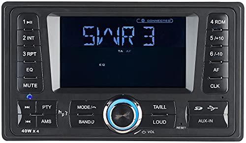Creasono Doppio DIN FM: Autoradio 2 DIN-MP3 CAS-4380.bt con RDS, Bluetooth, USB e SD, 4x 45 W. (Bluetooth DIN2)