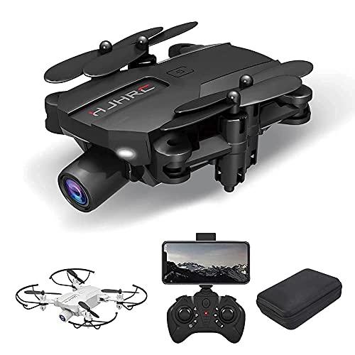 BD.Y Drone, Drone Optical Flow Positioning RC Quadcopter con cámara 4K HD Retención de altitud Modo sin Cabeza Plegable FPV Drones WiFi Video en Vivo 3D Flips 6Axis RTF Easy Fly Steady for Lea