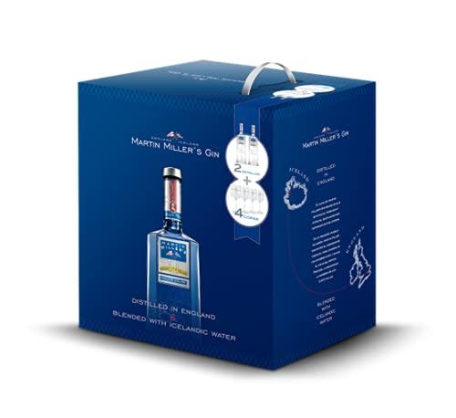 Martin Miller's Gin - Ginebra - Pack 2 Botellas 70cl + Regalo 4 Copas