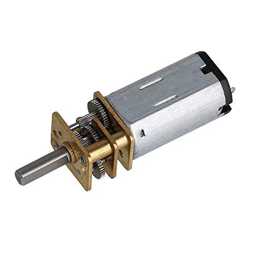 BQLZR 41x12x10mm 300 RPM N30 Micro Speed Getriebemotor DC 6 V Untersetzungsgetriebe Motor mit Mini Getriebe Rad 140g Drehmoment 1:50 Verhältnis für DIY Roboter Elektrische Spielzeug