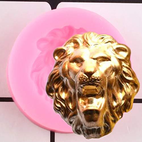 LNOFG 3D-Löwenkopf-Silikonform DIY-Pralinenform-Geburtstags-Kuchen-Fudge-Kuchen-Dekorationswerkzeug
