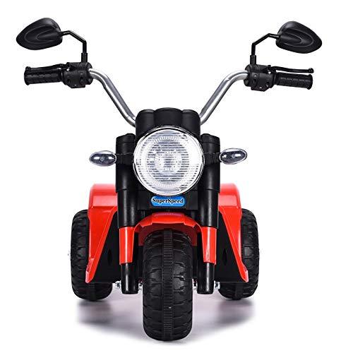 ATAA Mini Chopper 6v - Rojo - Moto clásica Chopper para niños con batería 6v