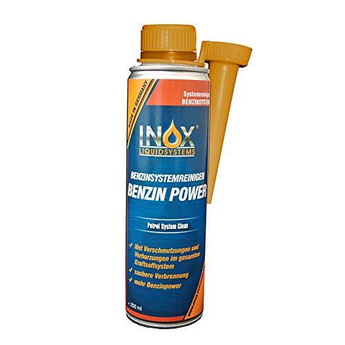 INOX® Benzin Power Additiv, 250ml - Benzinsystemreiniger Zusatz für alle Normal- und Superbenziner