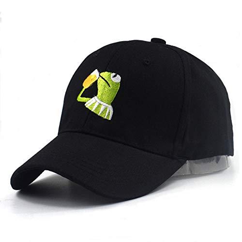 Lvntsx Baseballmütze Baseball-Kappen Unisex Marke Hüte Sad Frog Stickerei verstellbare Hut Baseball Cap Pepe Leben saugt Hut schwarz Sad Frog Caps hoher Qualität