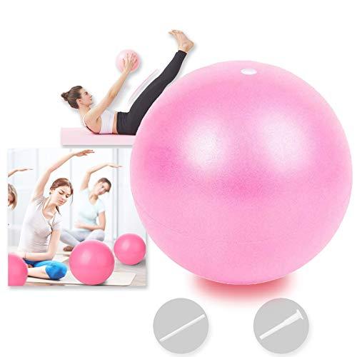 Bola YogaEjercicio,Pilates Pelota Equilibrio,Mini Balón Ejercicio Anti explosión 25cm,para Gimnasio, Yoga, Masaje y Pilates en Casa (Rosado)