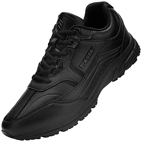 DKMILY DRY Scarpe Antinfortunistiche Punta in Acciaio Scarpe da Lavoro Antiscivolo di Livello Resistente all'olio SRC S1 Scarpe da Costruzione Impermeabili Anti-Smash Sneakers(Nero,41)