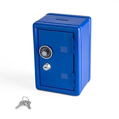 Balvi Salvadanaio Money Bank Colore Blu Cassetta di Sicurezza con Doppia Serratura...
