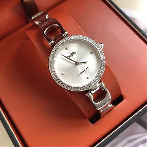 Miwaimao Pequeña Esfera Elegante Simple Reloj De Diamante con Incrustaciones De Cristal Reloj De Mujer con Correas De Acero