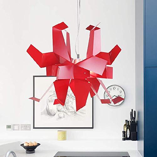 LLLKKK Lámpara de techo Personality Thousand Paper Crane Candelabro Creativo Origami Araña Arte Restaurante Dormitorio Estudio Lámpara Proyecto Luz de Techo Decoración (Color: Blanco)