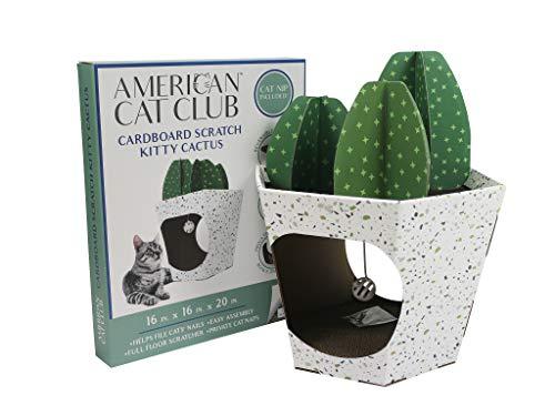 ACC Cactus Cat House & Cat Scratcher w/ Bonus Catnip included