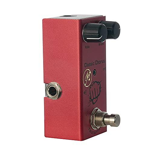Eastdall Pedal De Efeito,Pedal de efeito de coloro clássico para guitarras elétricas com True Bypass portátil Mini Single Pedal de guitarra DC 9V vermelho