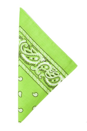 Sunrise Outlet - Bandana - Vestito modellante - Unisex - Adulto Verde Verde lime