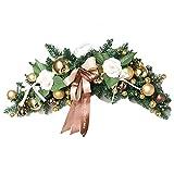 LXQGR 60 cm Cuerno ratán Navidad Pared Pared Colgando del Hotel Centro Comercial Corona árbol de Navidad Decoraciones (5PC,10PC : 2PCS, Size : 60CM)