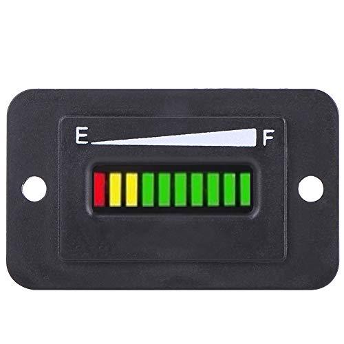 Reminnbor Indicador de Batería, Indicador de Medidor Digital LED de 12V 24V 36V 48V(12V/24V)