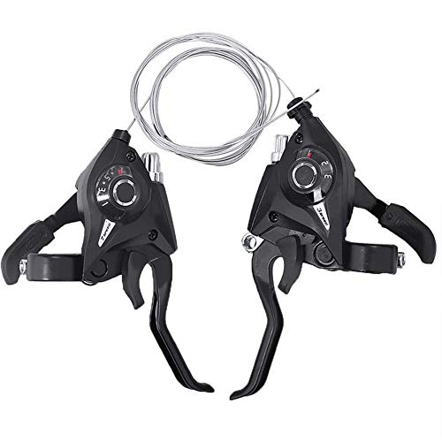 MTB for Bicicleta 3x7 Velocidad desviadores Shifter palancas de Freno 21-23mm Compatible...