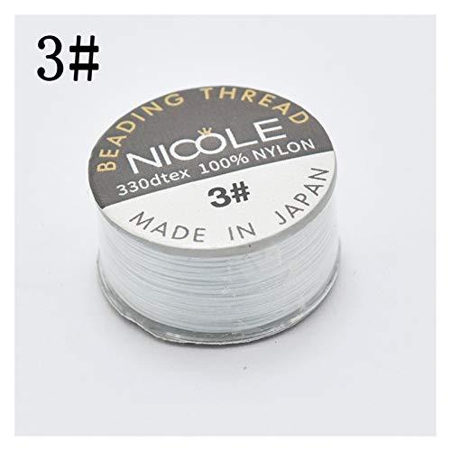 ZNYD Hilo de Nylon joyería Moldeada Hilo Trenzado de Rosca de Bolas y Accesorios de Bricolaje 46m Hilo (Color : 3)