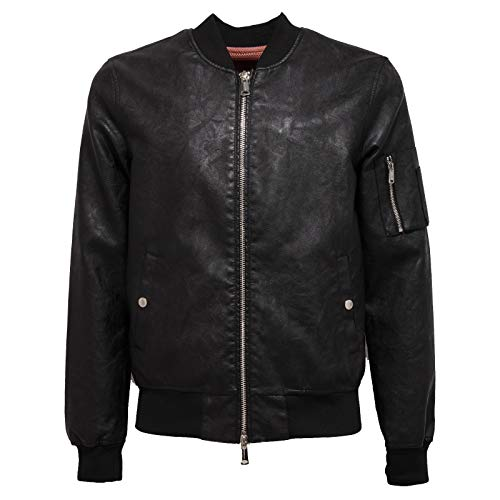 FREEDOMDAY 4721J Giubbotto Uomo Bomber Black eco-Leather Jacket Man [M]