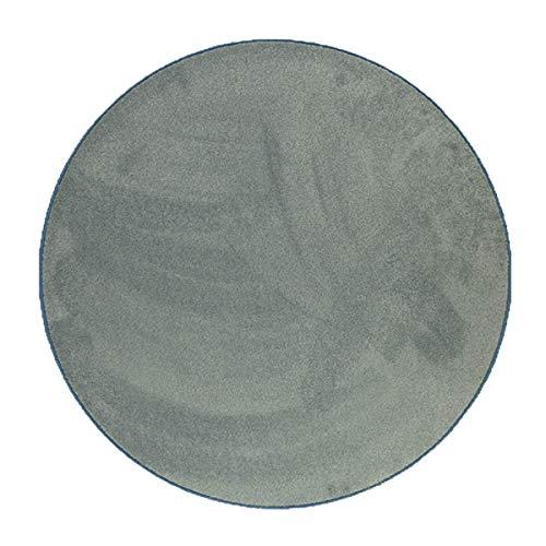 havatex Luxus Velours Teppich Dream rund - Weiß, Blau, Beige, Rosa, Türkis, Grau, Schwarz modern & klassisch | schadstoffgeprüft | Wohnzimmer Schlafzimmer, Farbe:Türkis, Größe:180 cm rund