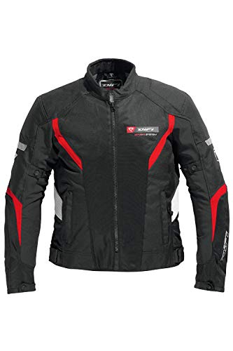 Difi KYALAMI AIR Motorradjacke Sommer Größe 5XL, Farbe schwarz/rot/weiß