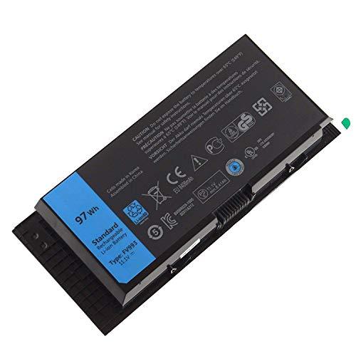 FV993 KJ321 FJJ4W R7PND PG6RC RY6WH Laptop Batterie Ersatz für Dell Precision M4600 M4700 M4800 M6600 M6700 M6800 Series(11.1V 97Wh)