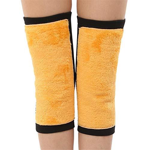 Kneepad/Protective Knee Pad Cotton Velvet Warm Fitness Knee Pads Unisex Kniepads-Winter Warmth Relieve Joint Pain Arthritis Schmerzen und Entzündungen,Black,L