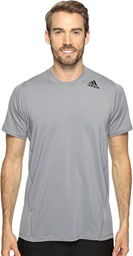 adidas Men's Training Utility Tech Short Sleeve Tee, Grey/Trace Grey, Medium