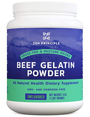 EXTRA LARGE Grass-Fed Gelatin Powder, 3 lb. Custom Anti-Aging Protein for Healthy Hair, Skin, Joints & Nails. Paleo and Keto Friendly Cooking and Baking. Type 1 and 3 Collagen. GMO and Gluten.