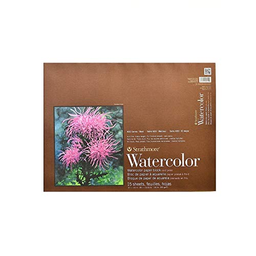 Strathmore 400 Series Watercolor Block, Cold Press, 15'x20' Bound (4 sides), 15 Sheets/Block