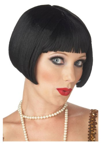 Black Flirty Flapper Wig Standard
