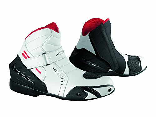 Motorcycle Biker Ventilated Race Touring Sport Leather Boots A-PRO White 44