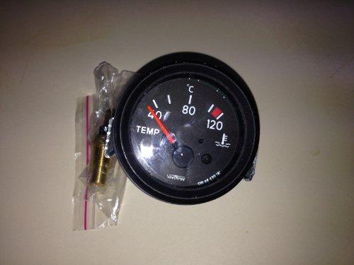 Elektronische Wassertemperaturanzeige 12V, 52 mm 120°C Instrument Motorrad Auto LKW