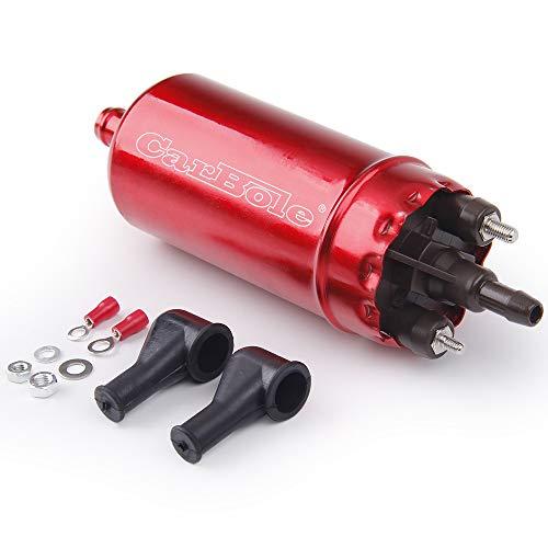 CarBole Pompa Carburante Ad Alta Pressione: Universale Inline EFI Trasferimento Benzina Elettrico Ricambio per 0580463017 Colore Rosso