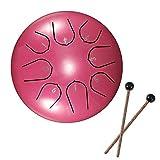 Vangonee Zungentrommel aus Stahl, 15,2 cm, 8 Stimmungen, Handtrommel mit Trommelstöcken, Tragetasche, Perkussionsinstrumente für Yoga
