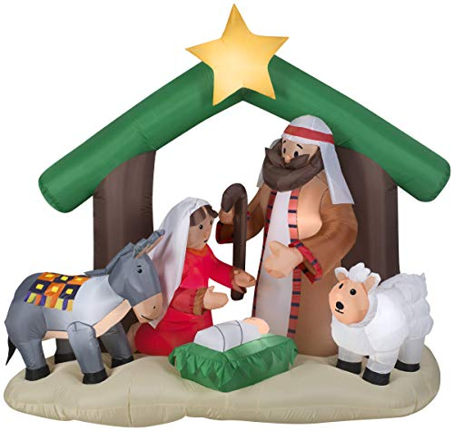 Gemmy Inflatables Holy Family Nativity Scene