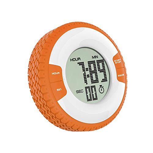 Anjing 24 Hours Magnetic Kitchen Timers with Digital Alarm Clock Timer Big Screen Loud Alarm Strong Magnet Orange