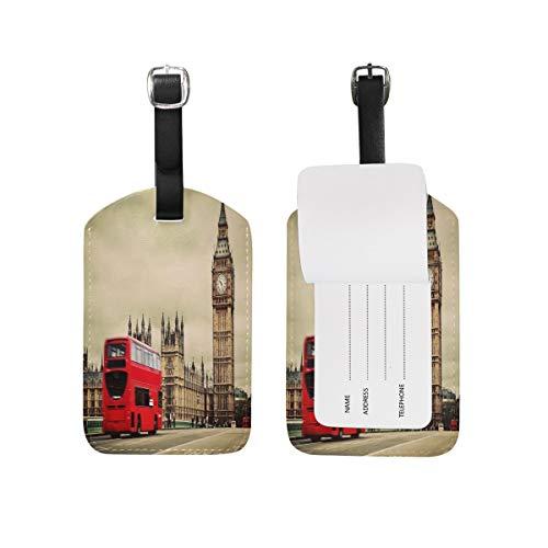 London Street Big Ben - Etiquetas para equipaje (1 unidad)