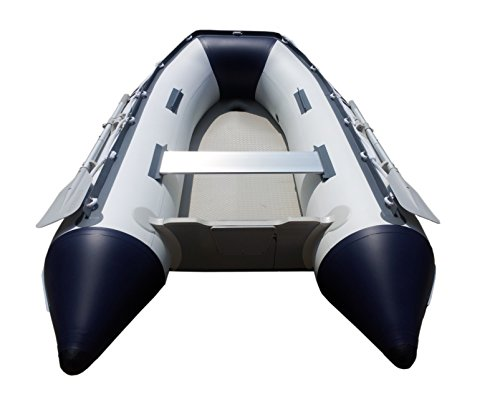 Newport Vessels Seascape Air Mat Floor Inflatable Tender Dinghy Boat (9-Feet), White/Navy (20M1000022)