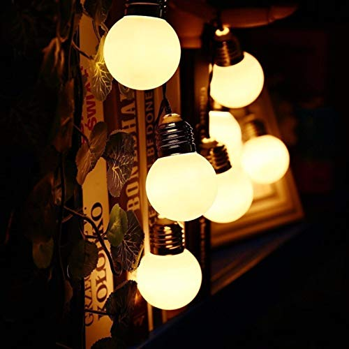 NAYY Waterproof Light Solar Retro G50 Bulb Bulb Lights LED String Lights Outdoor Garden Courtyard Christmas Day Decoration Lantern (Size : 3.5 m Solar Light 10 Transparent Bulb)