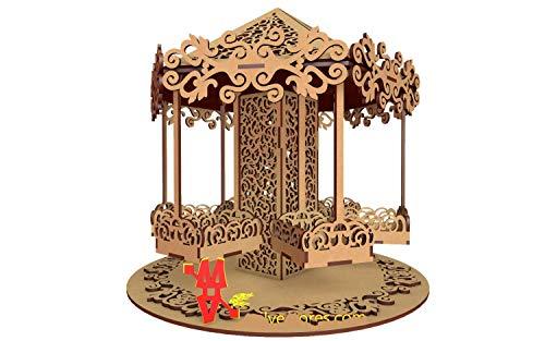 Kit para hacer calesita de madera DM para candy bar mesa dulce. Manualidades con madera