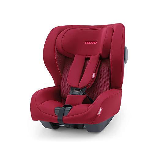 Recaro Kids, siège-auto Kio i-Size, Siège Auto Bébé Isofix réversible (face/dos route) Groupe 0/1 (60-105cm), Installation avec la base Avan/Kio, Aération Optimale, Confort et Sécurité, Garnet Red