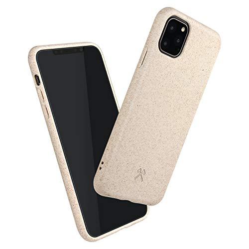 Woodcessories - Bio Case kompatibel mit iPhone 11 Pro Max - Nachhaltig, biologisch abbaubar - BioCase Weiß