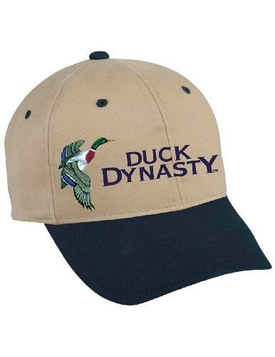Duck Dynasty Officially Licensed Khaki Two Tone Hunting Hat w/ Blue Brim by National Cap And Sportswear