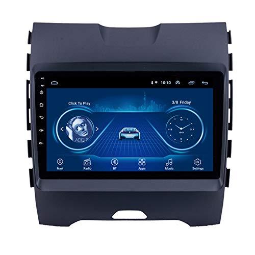 TIANDAO Android 10.0 8 Core Car Stereo Radio de navegación por satélite FM Am Autoradio 2.5D Pantalla táctil para Ford Edge 2015-2018 Navegador GPS Bluetooth WiFi GPS USB SD Player(Color:WiFi 1G+16G)