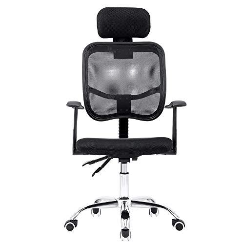Sigtua, Ergonomischer Computerstuhl Höhenverstellbarer Chefsessel office Stuhl Schreibtischstuhl PC Stuhl drehbarer Bürostuhl Schwarz