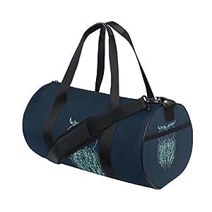 JSTEL Bolso deportivo con diseño de búho, bolsa de deporte, bolsa de yoga, bolsa de hombro, bolsa de fin de semana…