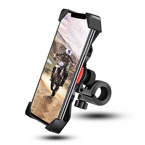 Grefay Handyhalterung Fahrrad, Handyhalter Motorrad Universal mit 360° Drehbar Outdoor Fahrrad Halter für 3,5-6,5 Zoll Smartphone iPhone 11 Pro Max, Xs Max, XR, X, 8, 7, 6S, Samsung S10 S9 S8