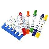 Stronrive Instrumento Musical de Flauta de Agua, diversión para niños, Juguete de baño para niños, Juguete de Flauta de Agua de Cinco Colores, baño para bebés, Juguete Musical, Instrumento de Viento