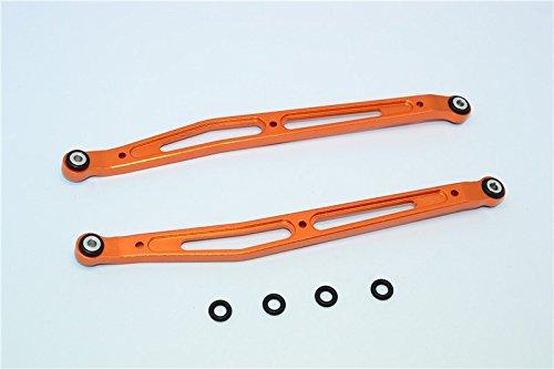Axial SMT10 Grave Digger (AX90055) Upgrade Pièces Aluminium Front/Rear Upper Chassis Link Parts - 1Pr Set Orange