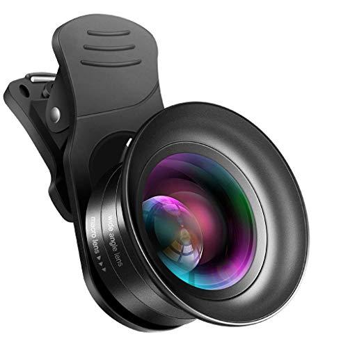 HSKB 4-in-1 clip-on mobiele telefoon-objectief, telefoon-cameralens met 180 graden fisheye-lens, 0, 67 x groothoeklens en 15 x macro-objectief voor Samsung Galaxy Note 10