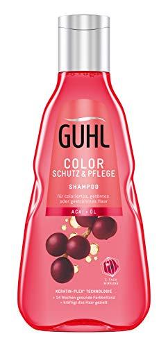 Guhl Color Schutz und Pflege Shampoo - mit Acai-Öl - schütz die Farbe und spendet Feuchtigkeit, 250 ml
